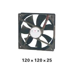 купить Plastic 120Series DC12V Axial Airflow  Fan 120*120*25mm  Airflow oil-retaining bearing Cooling Fan for Electric Cabinet XFS12025 по цене 935.19 рублей