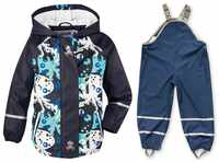 Spring, summer and autumn new children's PU leather poncho raincoat waterproof windproof