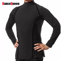 Sexy Latin Dancing Shirt For Males White Black Cotton New Design Tops Clothes Men Professional Arena