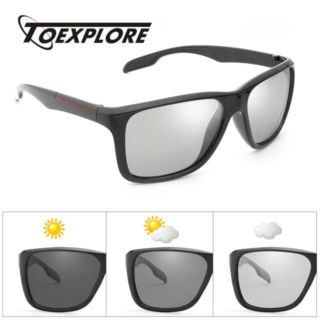 b069db04b15 TOEXPLORE Polarized Men s Anti-Glare Eyewear Photochromic Driving Goggles  Luxury Sun Glasses Brand Designer Sunglasses New UV400