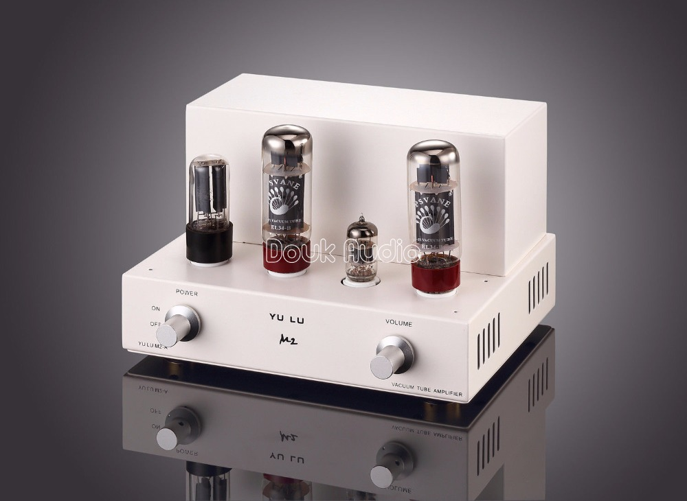 2017 New Mini  EL34 Tube Integrated Amplifier HiFi Single-Ended Class A Power Tube Amp 8W*2 White queenway w4 8 fully direct heated tube power amplifiers use 2a3 tube hifi amplifier