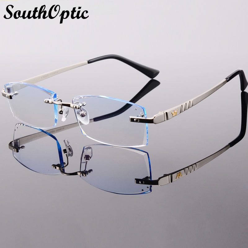 Rimless Eyeglass Frames 2015 : 2015 New Arrival Titanium Rimless Eyeglasses Men Korean ...