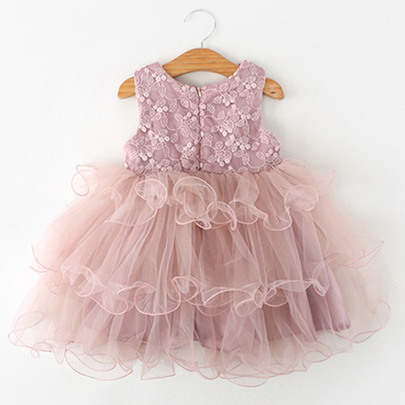 HTB1ztMvbdfvK1RjSspfq6zzXFXa6 Lace Little Princess Dresses Summer Solid Sleeveless Tulle Tutu Dresses For Girls 2 3 4 5 6 Years Clothes Party Pageant Vestidos