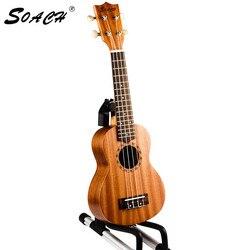 Soach 21 بوصة القيثارة السوبرانو اليدوية روزوود الأصابع الماهوجني جسم الغيتار 4 سلسلة الغيتار للمبتدئين صك للجنسين