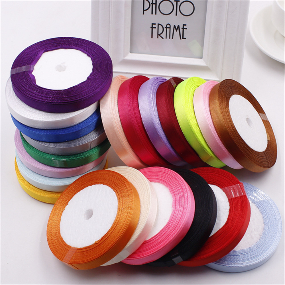 ୧ʕ ʔ୨ 10mm 25 Yard Pretty Silk Satin Ribbon 22M Wedding Party ...