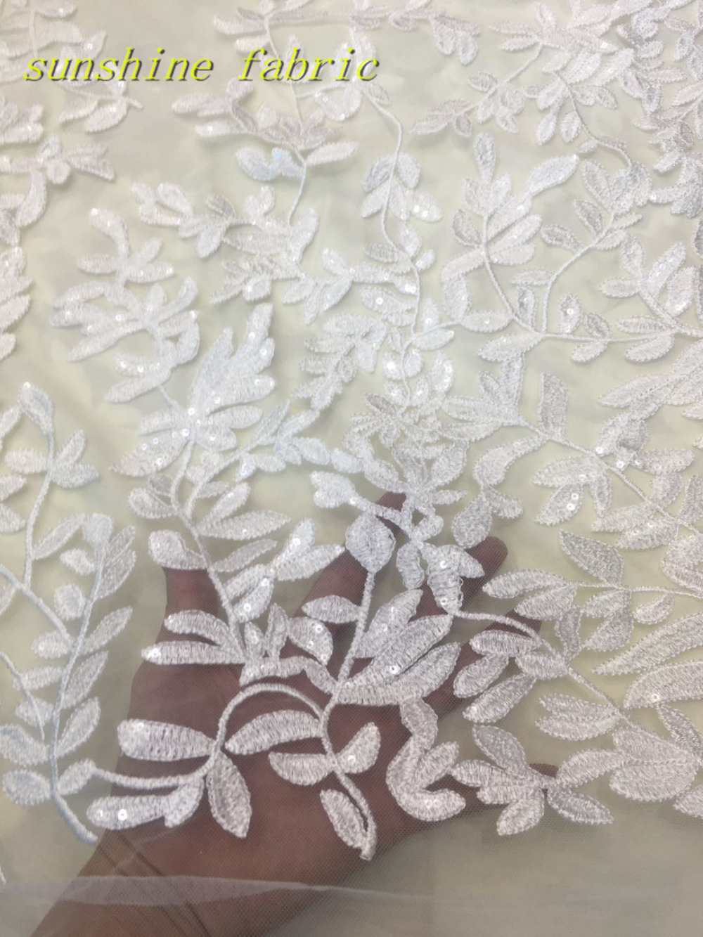 French Net Lace Fabric 2018 Latest african guipure lace fabric with embroidery  mesh tulle white cord 87cffcfa6c20