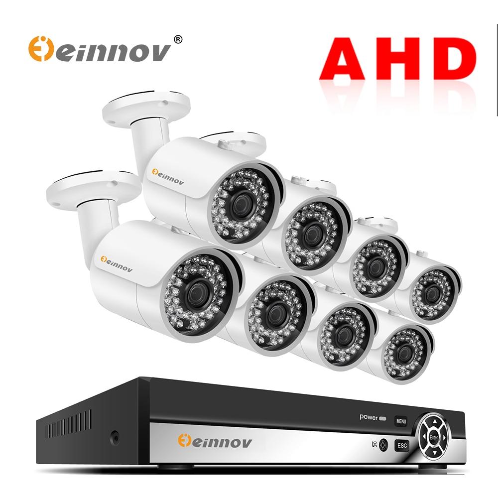 Einnov System Ahd-Dvr-Cameras Surveillance 2mp-Video Night-Vision 1080P 8CH APP P2P IR