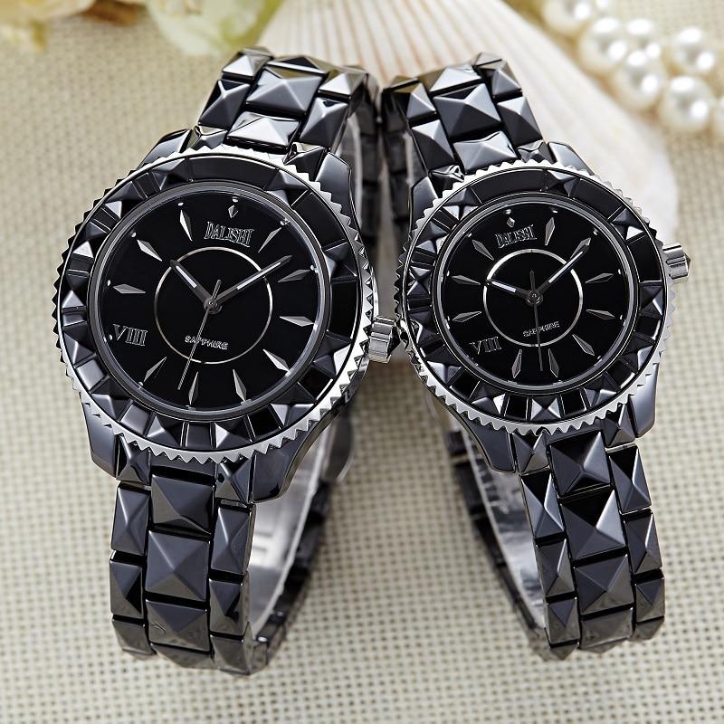 Luxury Brand DALISHI Men And Women Ceramic Lovers Watch Limited Quartz love Wristwatch 2017 New Fashion Classica Design Clock carnival ceramic pair watch men and women 100