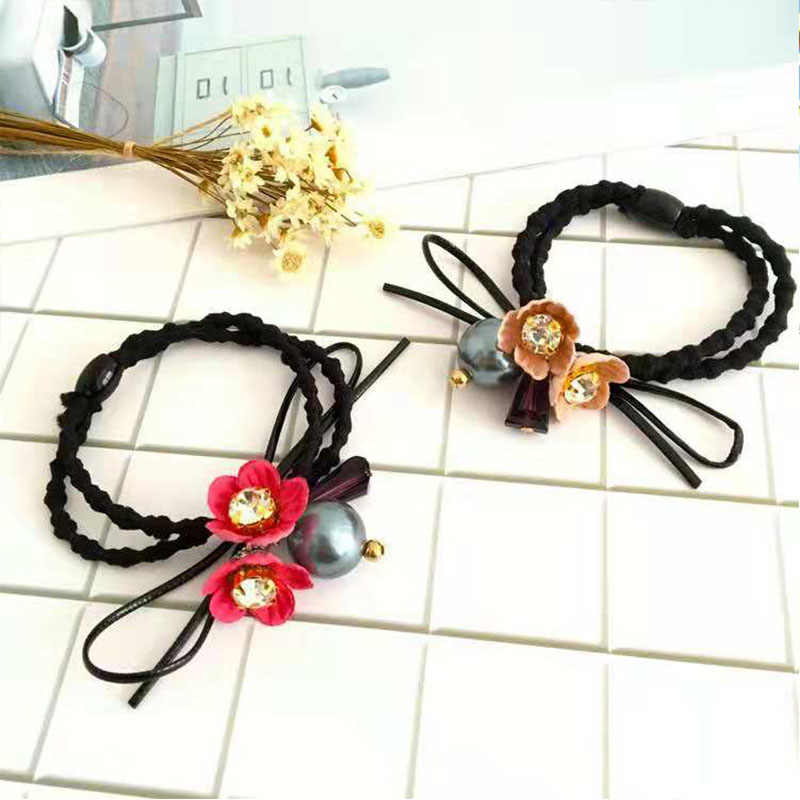 Three-dimensional flowers, rubber bands, ladies hair accessories, girls hair accessories do not hurt hair