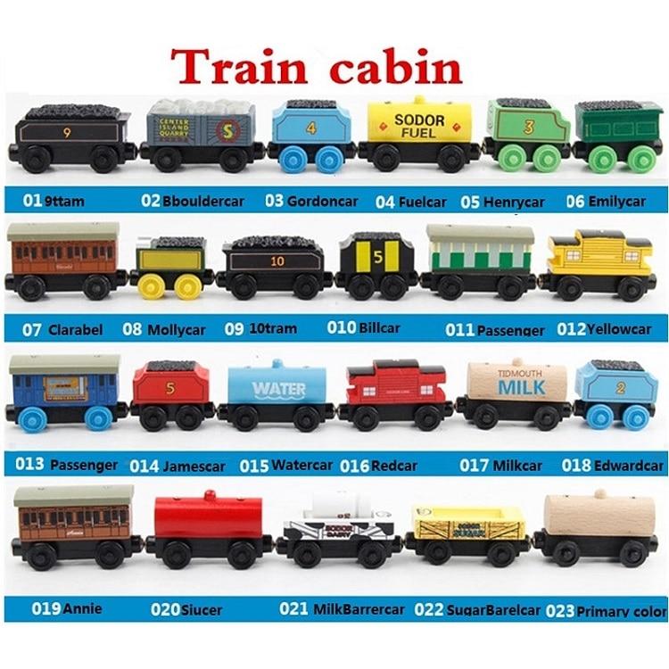 Wooden Thomas Train Toys Magnetic Train Cars Wood Train For Kids Thomas De Trein Christmas Gift Thomas Wood Train Locomotive Set