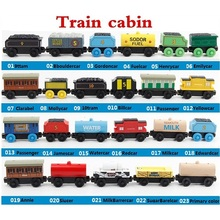 Wooden Thomas Train Toys Magnetic Train Cars Wood Train for Kids Thomas De Trein Christmas Gift Thomas Wood Train Locomotive Set стоимость