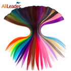 Alileader Clip In Hair Extensions Full Head Fake Hair One Clip Ombre Clip Head Synthetic Hair Extensions Long Straight 50Cm