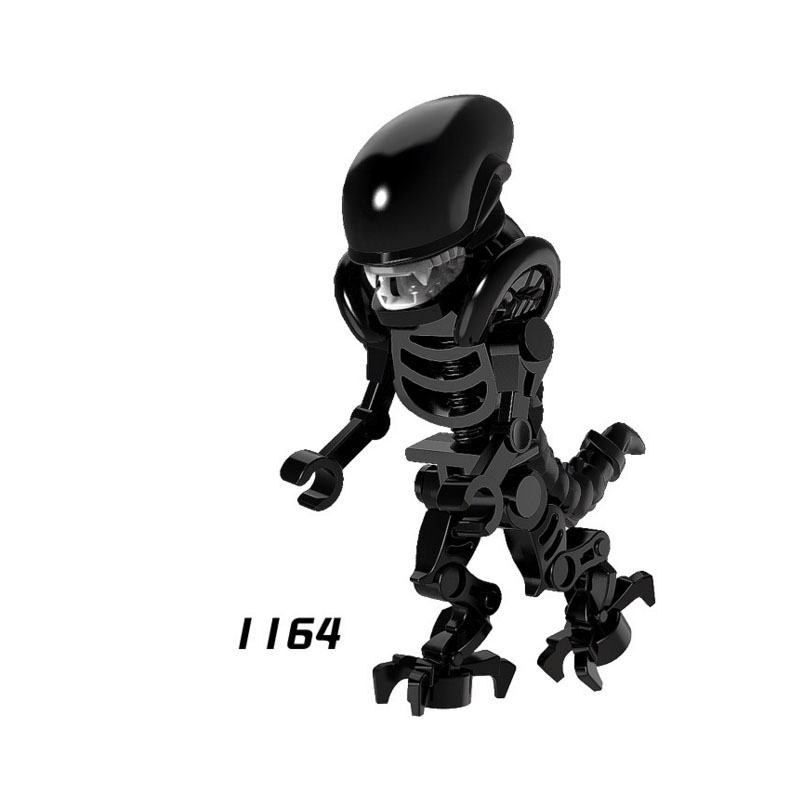 Single Sale Super Heroes Star Wars 1164 Alien Skeleton Mini Building Blocks Figure Brick Toy Kids Gift Compatible Legoed Ninjaed