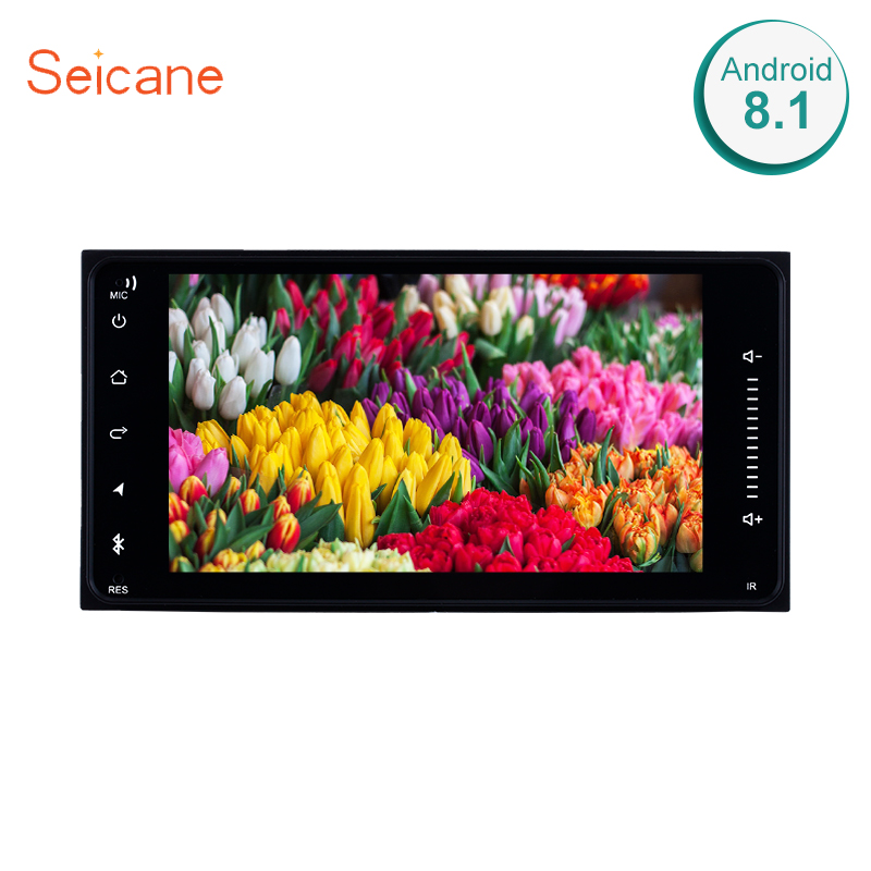 "Seicane Universal Android 8.1 9"" GPS Navigation Bluetooth Car Radio Audio System Head Unit DVD Player With Mirror Link 3G WiFi"