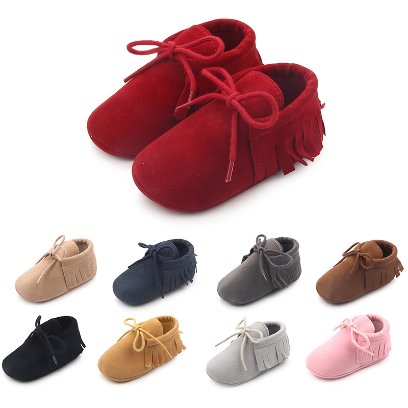 Newborn Baby Girl Shoes First Walkers Soft Soled Slipper Shoes Cradle PU Leather Walking Prewalker Toddler Sneakers