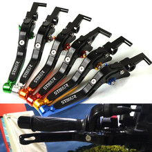 цена на Motorcycle Brake Clutch Levers For Triumph 675 STREET TRIPLE R 2008-2015 Adjustable Folding Brake Levers Motor Accessories