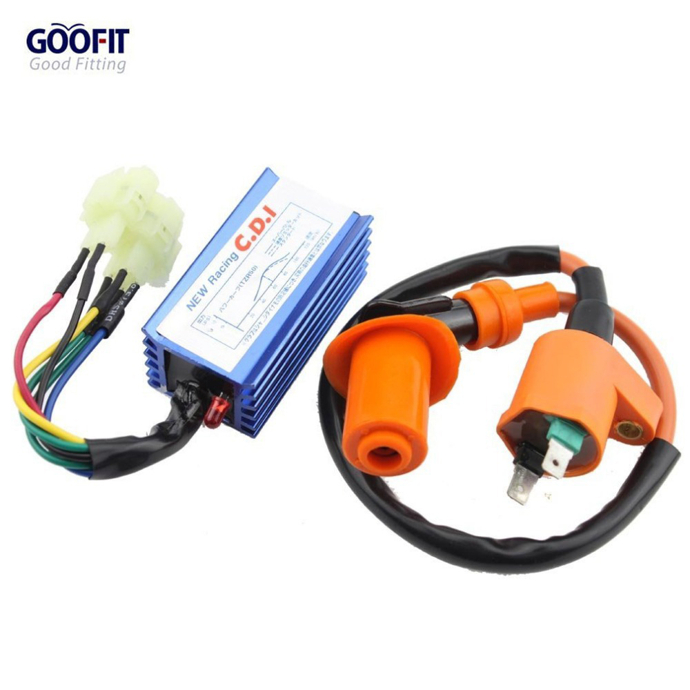 6 Pin CDI Ignition Coil Set for GY6 150cc Yerf Dog Spiderbox Scooter Go Kart