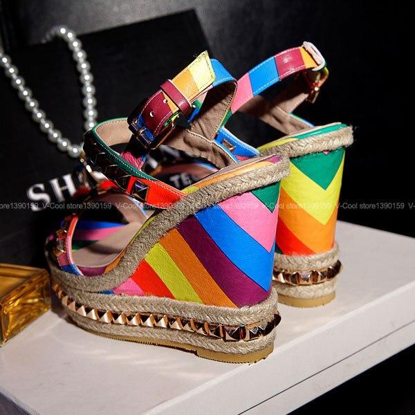 d153941c5f Summer Dress Platform Women Party Shoes Ethnic Wedge Sandals Girls Glitter  Platform Sandals Open Toes Valentine