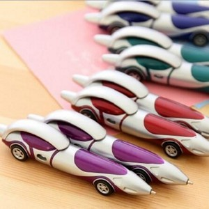 Image 4 - 24Pcs/Lot Creative Cartoon Plastic Car Ballpoint Pen Novelty Personality Ball Pens Items Korean Stationery Supplies 7011