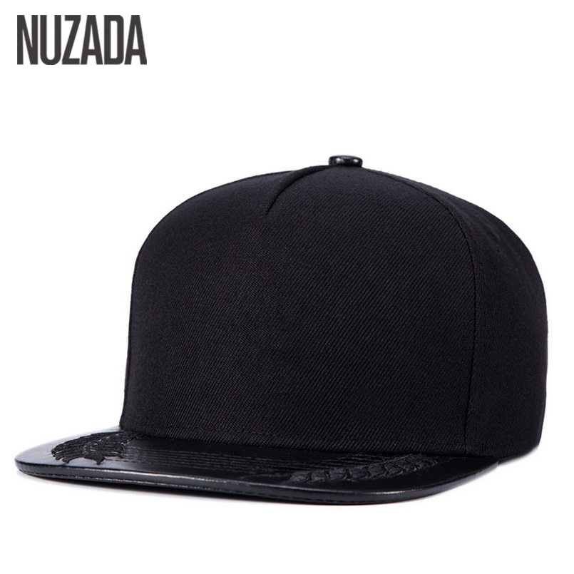 Brands NUZADA Hip Hop Hats Men Women Baseball Snapback Caps PU Leather Bone Classic Street Simplicity Cap jt-055 brand nuzada snapback summer baseball caps for men women fashion personality polyester cotton printing pattern cap hip hop hats
