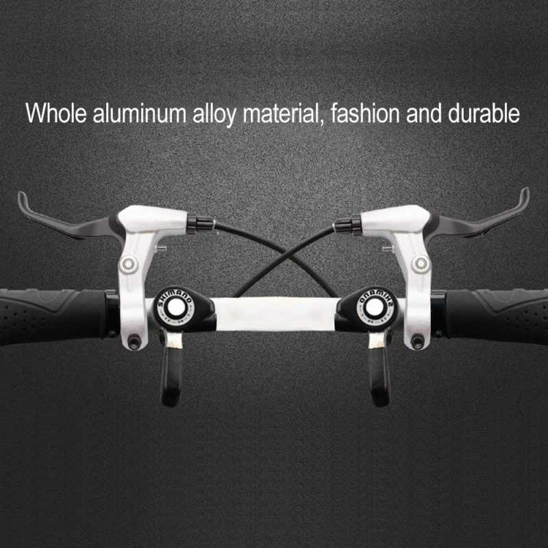 High-quality mountain bike aluminum alloy black white brakes High-grade all-aluminum mountain bike brakes aluminum alloy