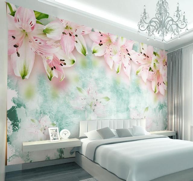 Beibehang Custom Wallpaper Home Decorative Mural 3d Fantasy Lily ...