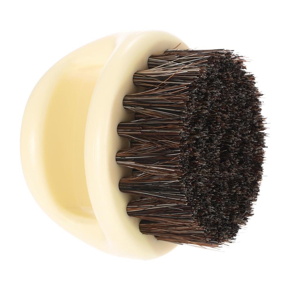 Pro Hairdresser Dust Brush Anti Static Boar Bristle Ring Beard Comb Salon Hair Sweep Brushes Shaving Facial Men's Mustache Brush 5