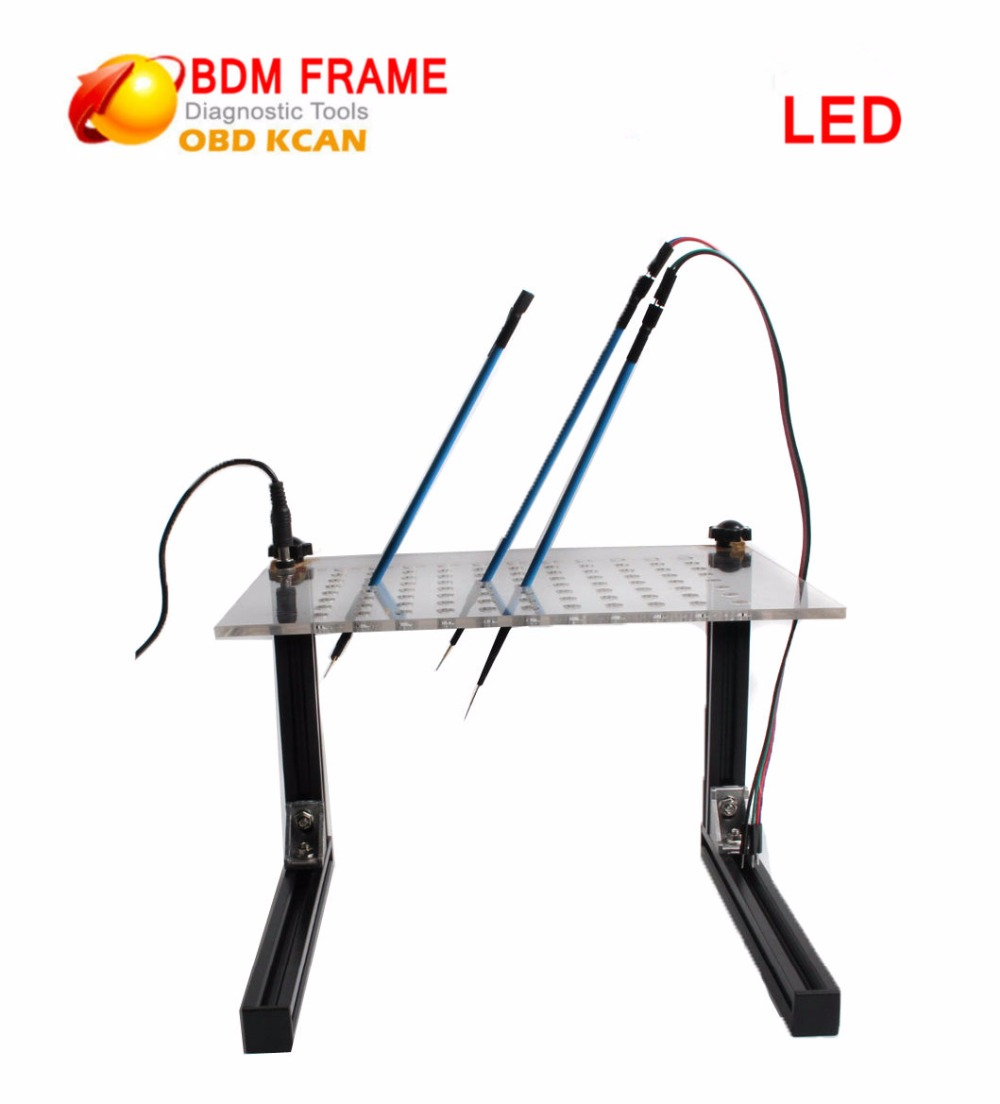 Latest BDM Frame With LED  And 4 Probe Pens For BDM 100 And Fgtech Bdm Frame Adapter Car ECU Programmer Diagnostic-tool