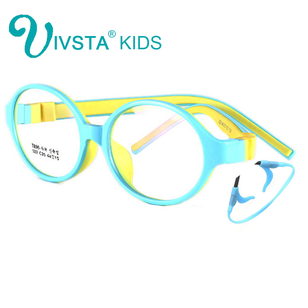 IVSTA 44 15 125 522 TR90 Kids Optical Frame Silicone Children Glasses with Strap retainer holder boys girls prescription-in Women's Eyewear Frames from Apparel Accessories on AliExpress