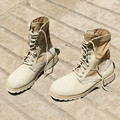 ZCHEKHEN США Камуфляж сапоги Натуральная Кожа Пустыни Военная Тактическая Боевая Мужчины Сапоги Плюс Размер Западная Армия Сапоги Обувь
