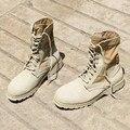 ZCHEKHEN EUA Camuflagem Deserto Militar Tático de Combate Botas de Cano alto de Couro Genuíno Botas Homens Plus Size Exército Botas Sapatos Oeste