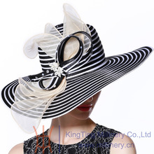 Free Shipping Women Hats Church Hats New Designed Classic Black and white Dress Collection