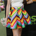 2016 весной и летом новая мода элегантный темперамент талии юбки бюст зонтик юбка цвет бар