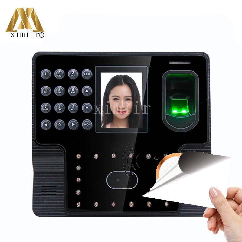 Iface102 Fingerprint Zeit Teilnahme Tcp/ip Kommunikation Mf Kartenleser Biometrische Gesicht Zeit Teilnahme HüBsch Und Bunt Zugangskontrolle Ip-gesichtserkennungsgerät