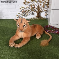 large 75cm simulation lioness plush toy female lion doll , throw pillow birthday gift h2233