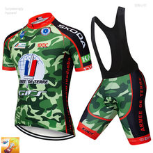 2018 Pro Bicycling Maillot Culotte Clothing Camouflage Green Cycling Team  Jersey 16D Gel Pads Bike Shors Set Mens Quick Dry 2e49a1684