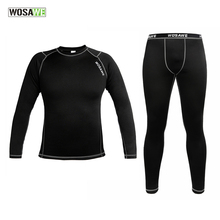 WOSAWE New High Quality Men Thermal Long Johns Sports Winter Warm Underwears Outdoor Cycling Clothings