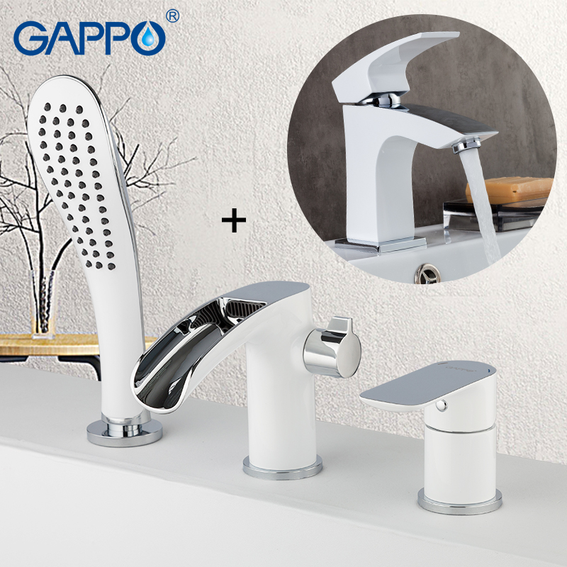 GAPPO Shower Faucets bath tub faucet bathroom sink faucet shower jets water tap Sanitary Ware Suite