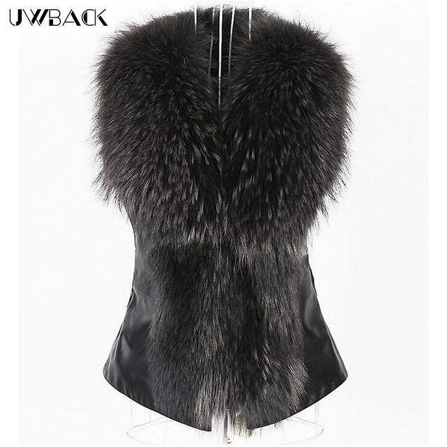 c40cc7cc48a Uwback 2016 Winter Brand Faux Fur Vest Women Fox Fur Coat Female Covered  Button Warm Leather