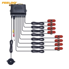 FEELDO 1 Set Auto Originele Stijl 16.5mm 8-Sensor Video Achteruitkijkspiegel Visuele Parking Sensor Backup Radar System 3-Color # FD-2936