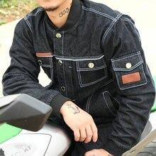 2017 новая бесплатная доставка вскользь куртка мотоцикла дороги верховой езды ковбой одежда мужчины moto джинсовая одежда