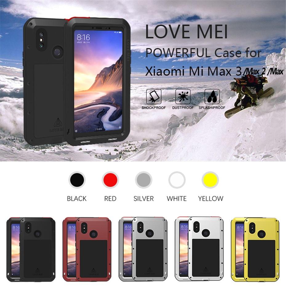 Coque de protection antichoc pour Huawei P30 lite LOVE MEI Sports de plein air pour Huawei P30 Pro P30 coque de protection étanche en métal