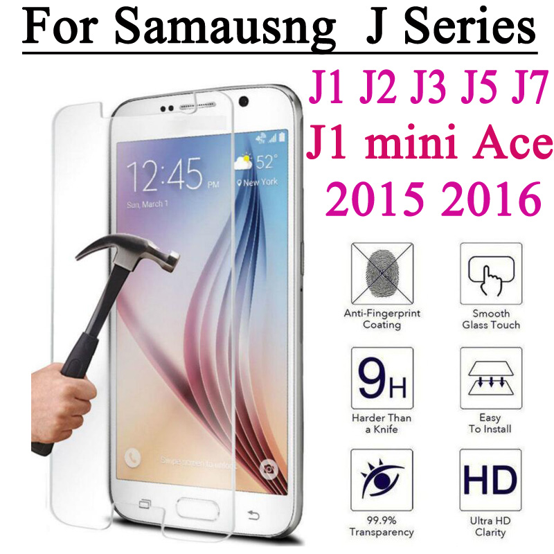 Screen Protector Tempered Glass Film For Samsung Galaxy J1 mini 2016 J2 J3 J7 2015 A3 A5 J5 Prime G530 Toughened Explosion Proof