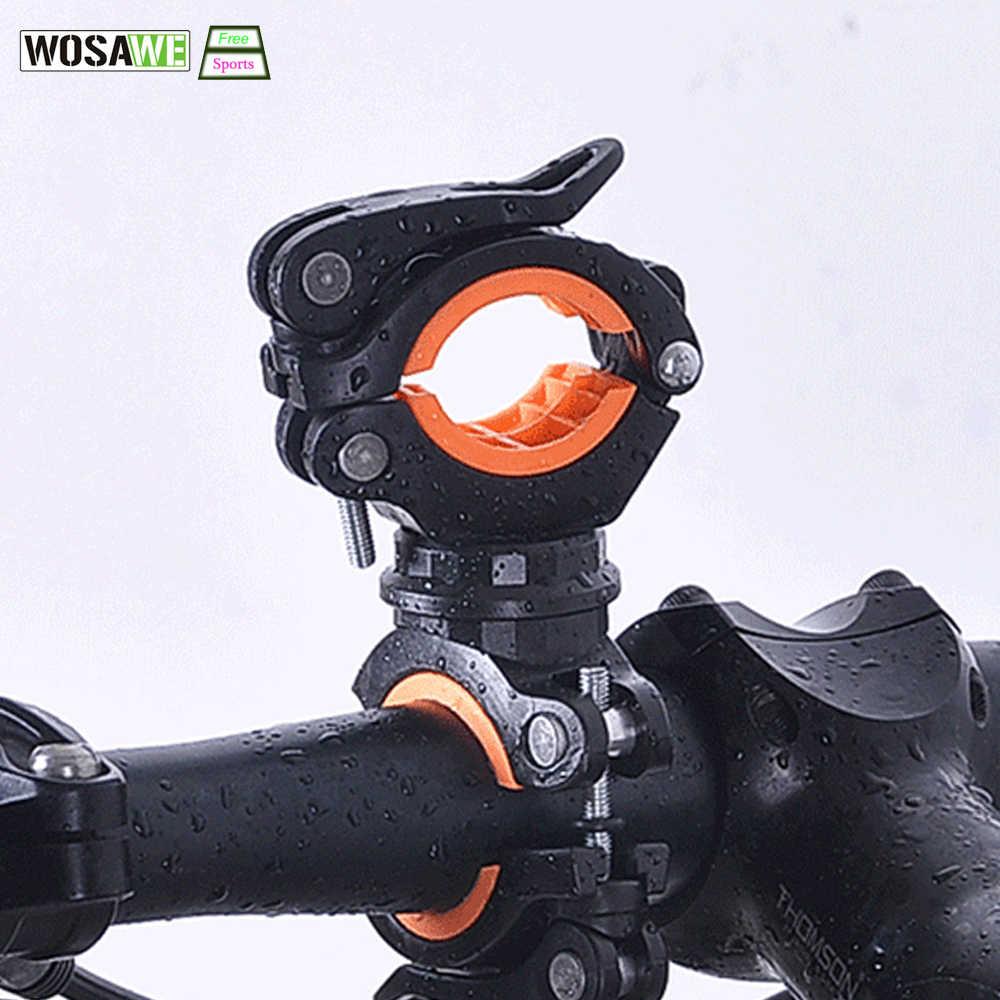 WOSAWE אופניים פנס קליפ אוניברסלי הר כביש אופני כידון לפיד מחזיק רכיבה על אופניים מנורת אוויר משאבת אביזרי סוגר