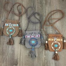 Nuevo diseño de Lujo de largo Bohemio Collar de Algodón Borlas colgantes con símbolos de paz