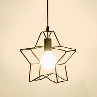 Refeição E27 Nordic Moda Ferro do vintage lâmpada Pingente Personalizado Criativo luz Pingente de Estrela para Restaurante Café bar Quarto|Luzes de pendentes| |  -
