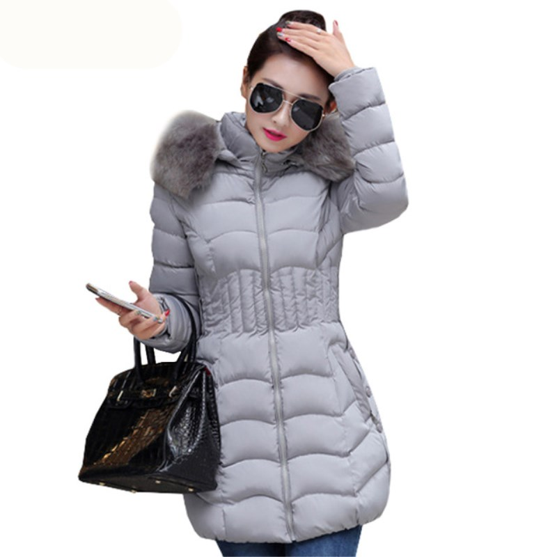 2017 New Fashion Parkas Women Winter  Coat Women Cotton Padded Female Jacket Winter Coat Womens Clothing High Quality 2017 new fashion winter coat women warm outwear padded cotton jacket coat womens clothing high quality parkas manteau femme 520