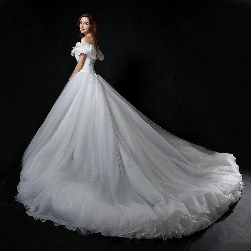 Real Photo Cinderella Hochzeitskleid Off Schulter Prinzessin ...