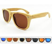 Hot sale Designer Quality Men's  and Womens's Unisex  Avitator Mirrored TAC Hd Polarized Bamboo Wooden Sunglasses