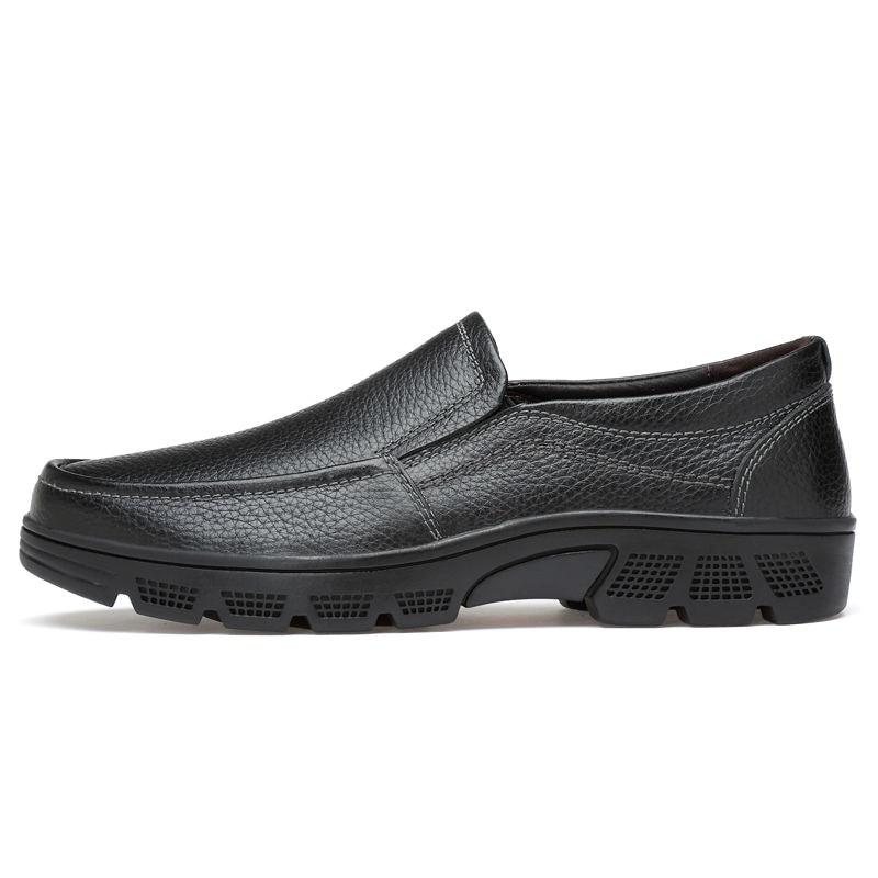 Grande 2019 Hommes Simple VéritableHomme Laisumk Slip 38 En sur Cuir Bonne 49 Qualité Nouveau Chaussures Habillées Taille Marque Black brown rBdCxoe